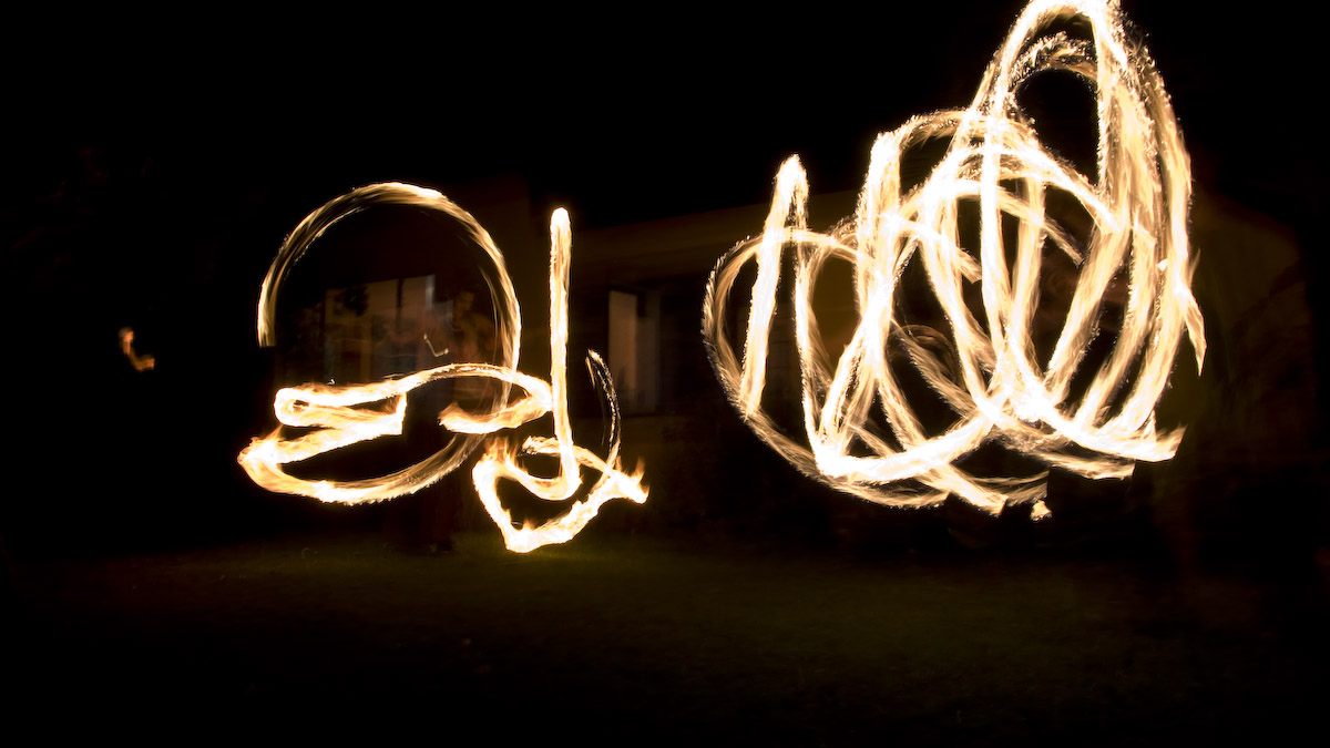 the famous hippy fireshow